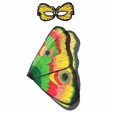 Gekleurde vlinder verkleedset voor meisjes