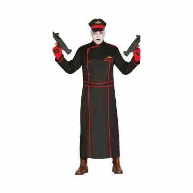 Gestapo verkleedcarnavalskleding in het zwart