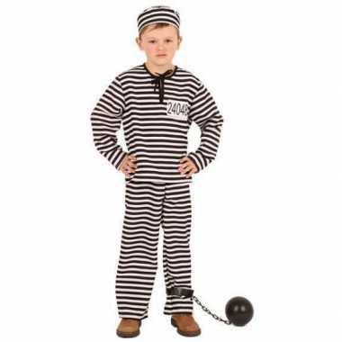 Gestreept gevangene carnavalskleding kinderen