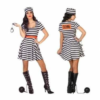 Gevangene/boef bonnie verkleed carnavalskleding/jurk voor dames