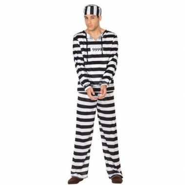 Gevangene/boef clyde verkleed carnavalskleding voor heren
