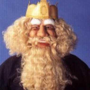 Gezichtmasker koning met blond haar