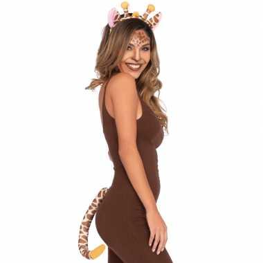 Giraffe verkleedaccessoires set 2 delig