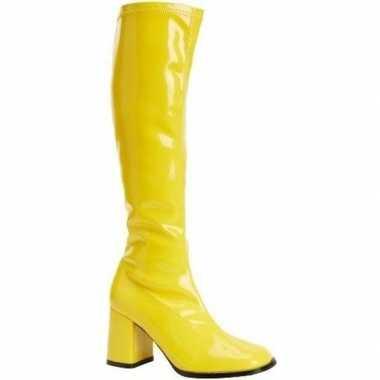 Glimmende gele laarzen voor dames