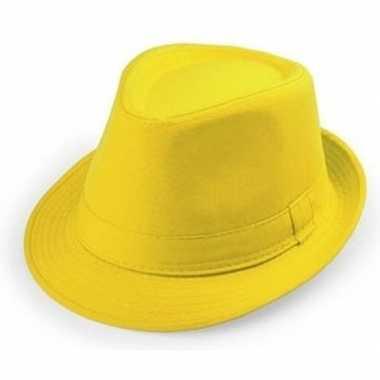 Goedkope gele verkleed hoedjes voor volwassenen