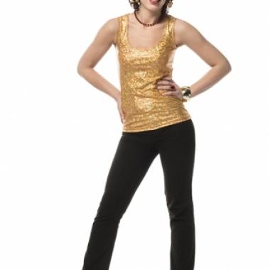 Gouden glamour top voor dames