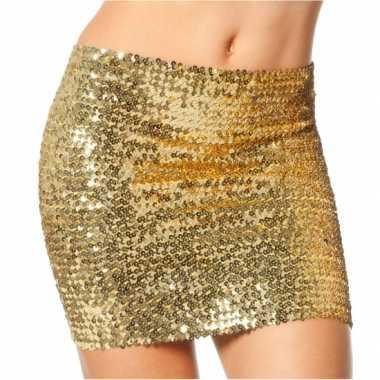 Gouden top/rok met pailletten