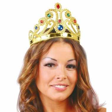 Gouden verkleed kroon voor prinsessen