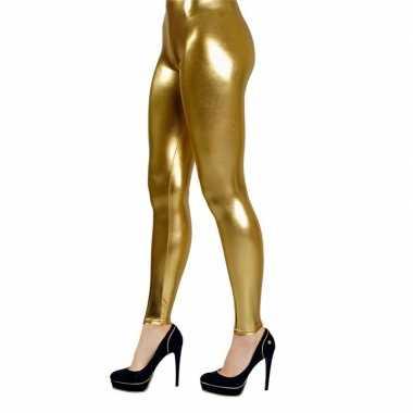 Gouden verkleed legging voor dames