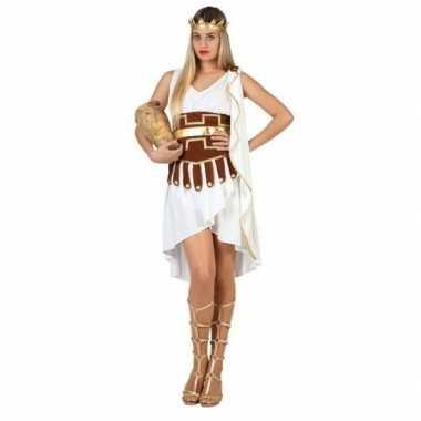 Griekse godin verkleed carnavalskleding/jurk wit/goud voor dames