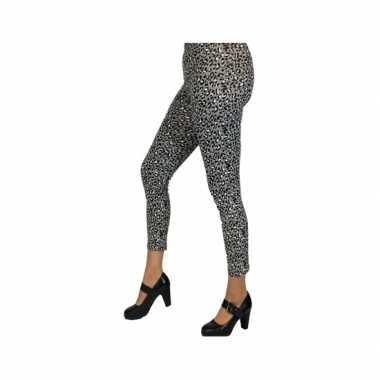 Grijze luipaard legging voor dames