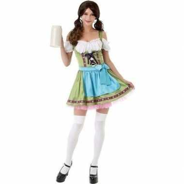 Groen oktoberfest jurkje/dirndl carnavalskleding voor dames