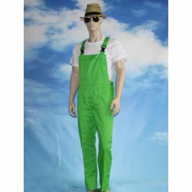 Groene tuinbroek carnavalskledingl voor volwassenen