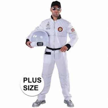 Grote maat astronaut verkleed carnavalskleding voor heren