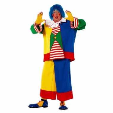 Grote maat clowns carnavalskleding voor heren
