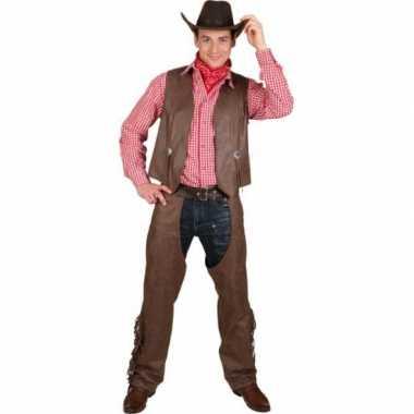 Grote maat cowboy vest en chaps