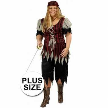 Grote maat dames piraten carnavalskleding