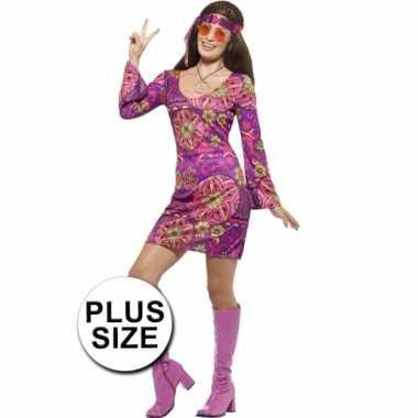 Grote maat feest hippie verkleedcarnavalskleding voor dames