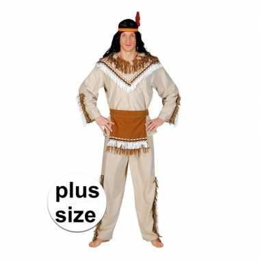 Grote maat indiaan adahy verkleed carnavalskleding voor heren