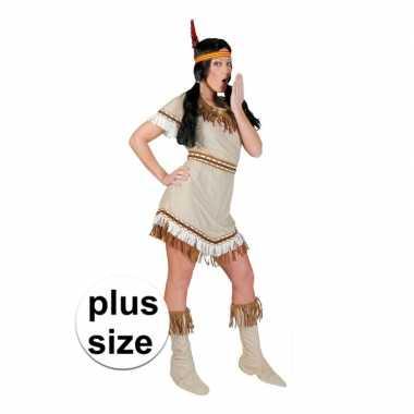 Grote maat indiaan alawa verkleed jurkje voor dames