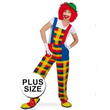 Grote maten clown pebbi verkleedcarnavalskleding voor volwassenen