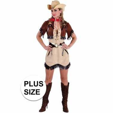Grote maten cowgirl jurkje met bolero voor dames