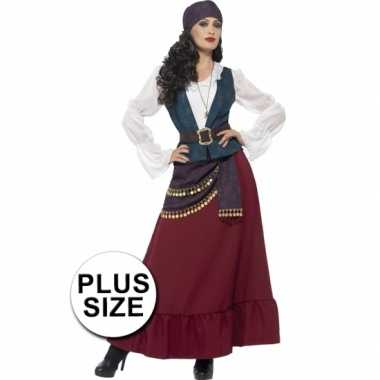 Grote maten feest piraat verkleedcarnavalskleding voor dames