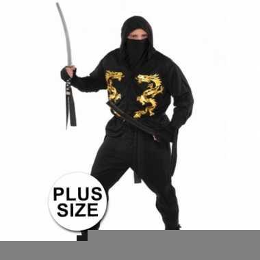 Grote maten ninja carnavalskleding voor heren