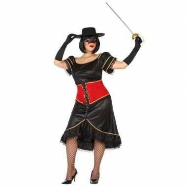 Grote maten spaanse gemaskerde vrouw verkleed carnavalskleding voor d