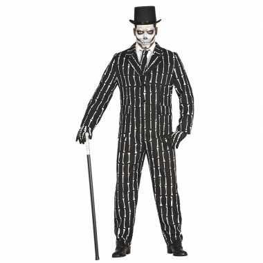 Halloween luxe 3 delig skeletten carnavalskleding voor heren
