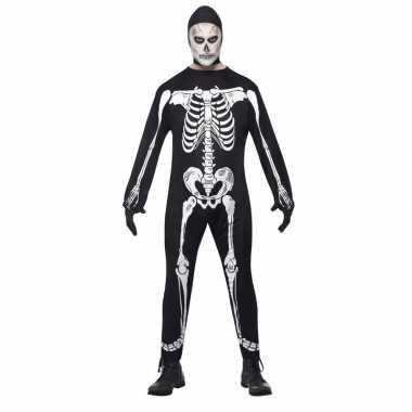 Halloween skelet carnavalskleding voor volwassenen