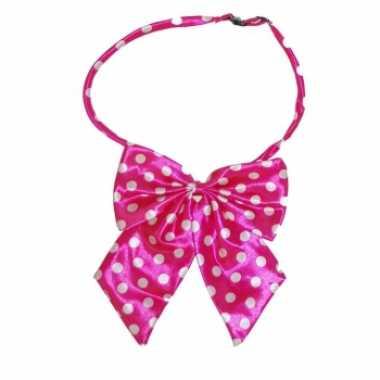 Hals strikje roze