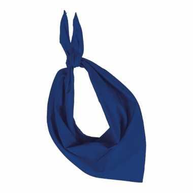 Hals zakdoek kobalt blauw