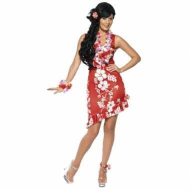 Carnavalskleding Dames Jurkje.Hawaii Carnavalskleding Dames Jurkje Rood Carnavals Winkel Nl