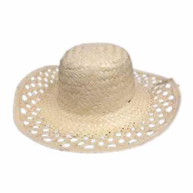 Hawaii feest hoedje van stro