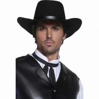 Heren cowboyhoed zwart