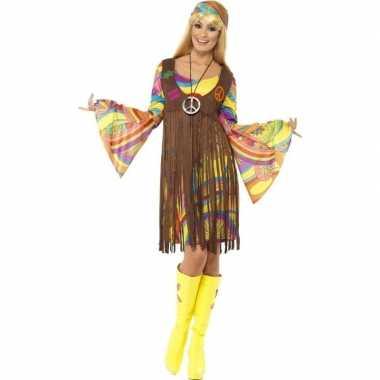 Hippie verkleed jurkje met gilet voor dames
