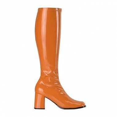 Hoge dames laars oranje