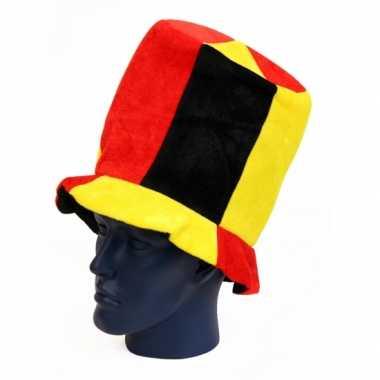 Hoge hoed belgie supporters