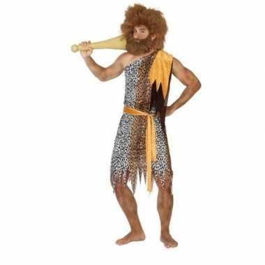 Holbewoner/caveman alley verkleed carnavalskleding heren