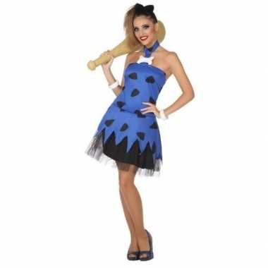 Holbewoonster/cavewoman betty verkleed carnavalskleding/jurk voor dam