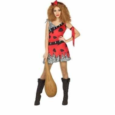 Holbewoonster/cavewoman loana verkleed carnavalskleding/jurk dames
