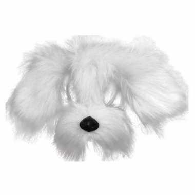 Honden maskers met witte vacht