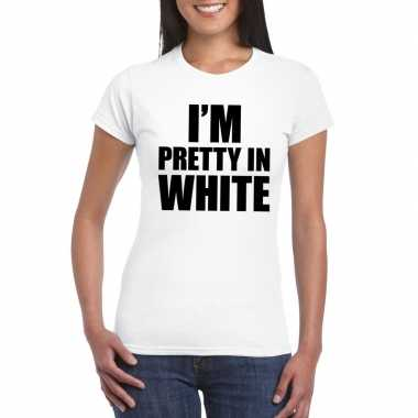 I'm pretty in white t shirt wit dames