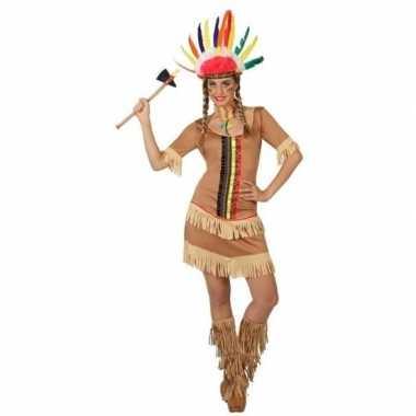 Indianen manipi verkleed jurkje/carnavalskleding voor dames