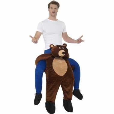 Instap dierencarnavalskleding beer voor volwassenen