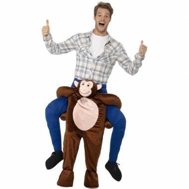Instap dierenpak carnavalskleding aap voor volwassenen