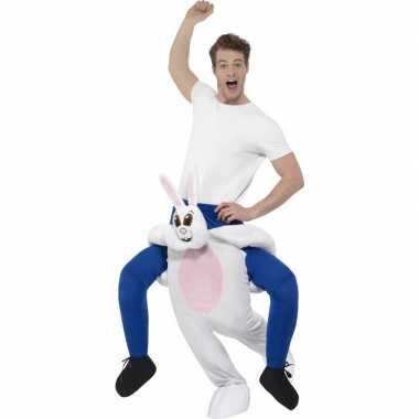 Instap dierenpak carnavalskleding konijn/haas voor volwassenen
