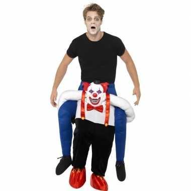 Instapcarnavalskleding enge horror clown voor volwassenen