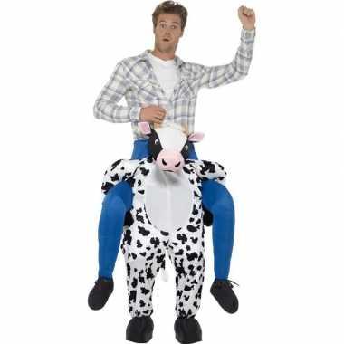 Instapcarnavalskleding koe voor volwassenen